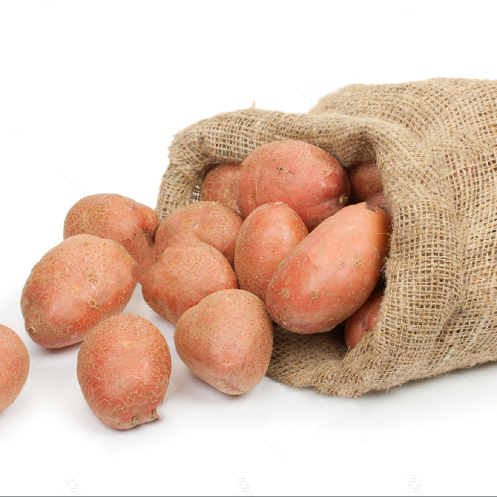 Red Potato Jute Bag